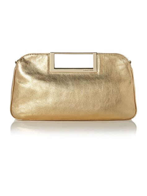 Michael Kors Canary Yellow Patent Clutch by Michael Kors Berkley Gold Patent Clutch Bag In Gold Lyst