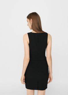 Dress Zipper Kotak Combi Mango cut out back jumpsuit jumpsuit mango alt and