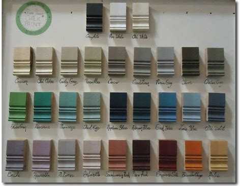 sloan color chart sloan chalk paint color chart 2017 numberedtype