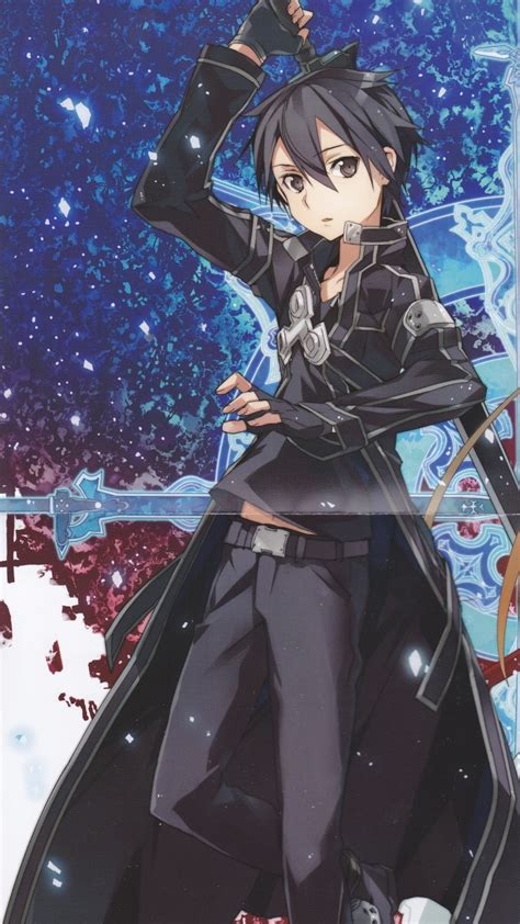 sword art onlinekirito htc windows phone  wallpaper