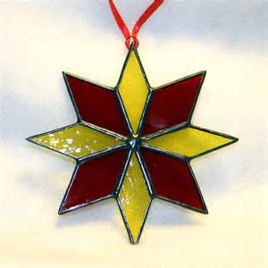 christmas tree ornament stained glass g1212a by