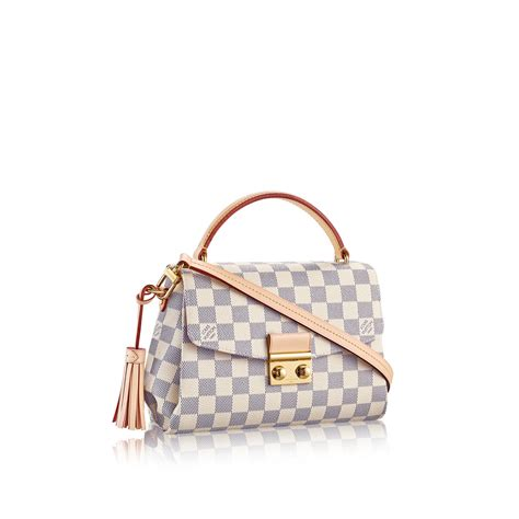 Louis Vuitton New Louis Vuitton Damier Azur Collection by Croisette Damier Azur Canvas Handbags Louis Vuitton