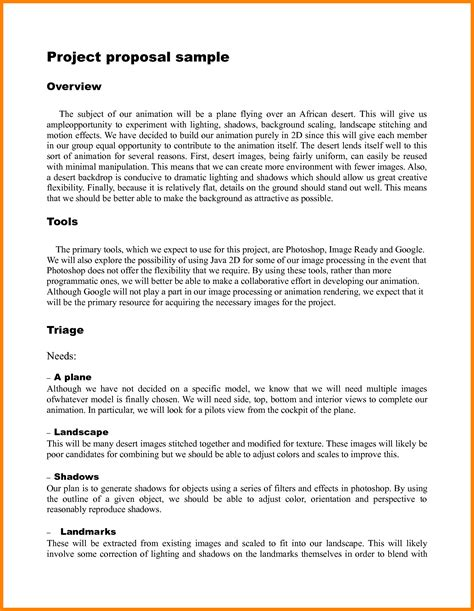 8 exle of outline project proposal proposal template