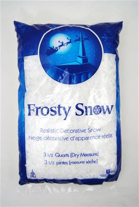 3 1 2 quart bag of artificial frosty snow