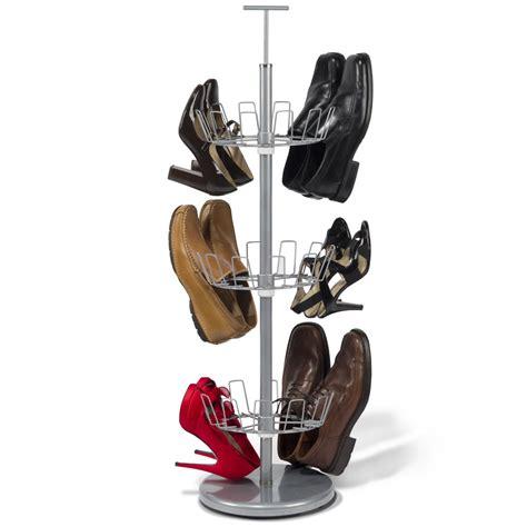 slippers rack the space saving 18 pair shoe rack hammacher schlemmer