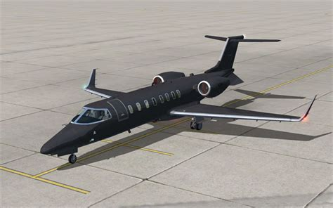 Black Airbus black operations learjet 45 for fsx