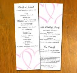 event program template free free wedding templates