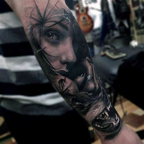 badass sleeve tattoos for men wolf badass mens forearm sleeve tattoos