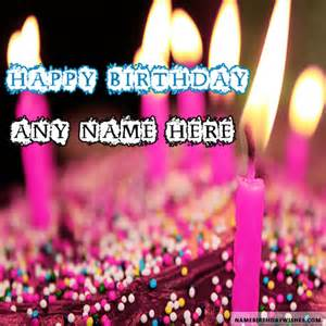 beautiful candles happy birthday wishes with name