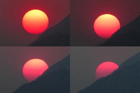 color of the sun magenta sun due to wildfires in zimbabwe strange sounds