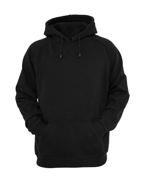 Sweatshirt Black hooded plain black sweatshirt pullover hoodie fleece cotton blank new ebay