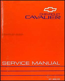 best auto repair manual 1993 chevrolet cavalier on board diagnostic 1993 chevy cavalier repair shop manual original