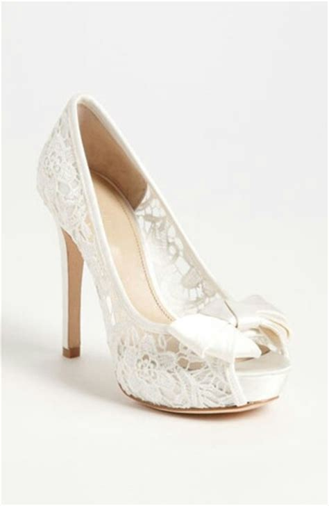 white high heels with bow shoes white lace white high heels bow wheretoget