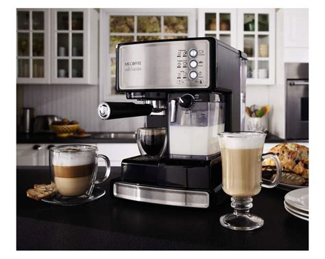 Alat Coffee Maker mr coffee cafe barista espresso maker with automatic milk frother bvmc ecmp1000