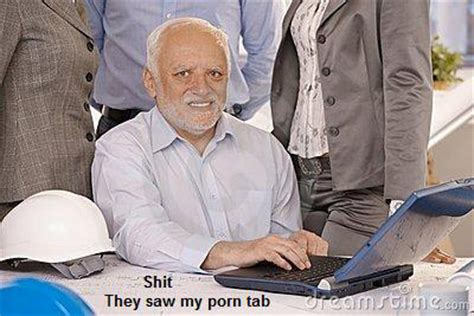 Man On Computer Meme - porn tab hide the pain harold know your meme