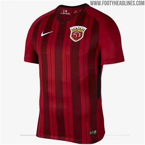 Shanghai Sipg 2018 Home Kit Revealed Footy Headlines Nike Vapor Shirt Template