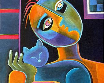 authentic picasso paintings for sale modern cubism original painting on canvas marlina vera