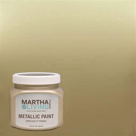 martha stewart living 10 oz golden pearl metallic paint 4 pack 259286 the home depot