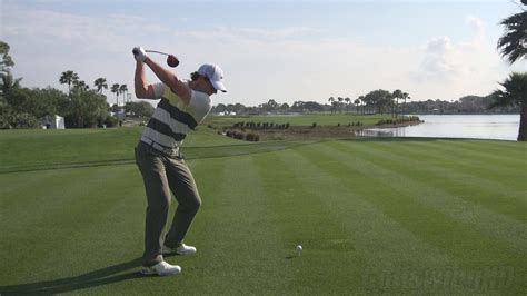 best golf swing on tour golf swing 2013 rory mcilroy driver perfect dtl draw
