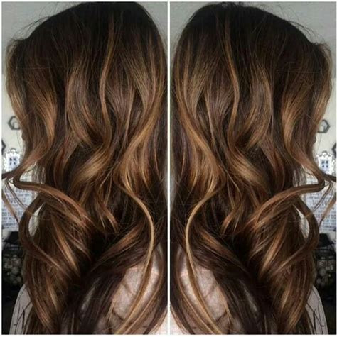 honey highlights for dark brown hair on inverted bob brown hair with subtle honey caramel highlights fix that
