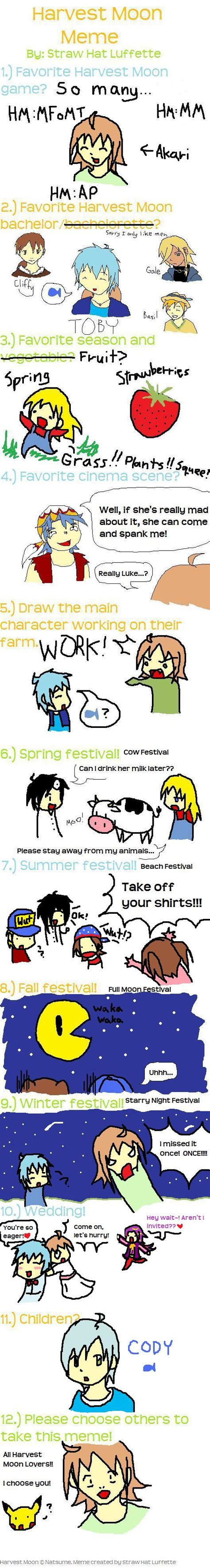 Harvest Moon Meme - harvest moon meme by me by roiaru on deviantart