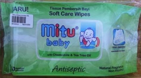 Mitu Baby Wipes Antiseptic 50 yanda babyshop baby cosmetic