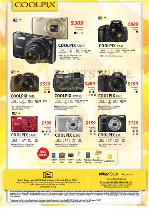 nikon digital price list nikon deal in town prices in singapore