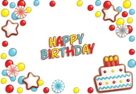 birthday card template design vector free download creative happy birthday fonts vector