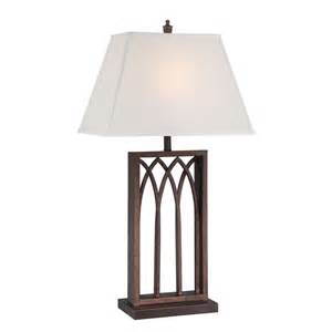 Vintage Table Ls Lite Source Lighting Cambridge Antique Rust Table L With Rectangle Shade Ls 22561