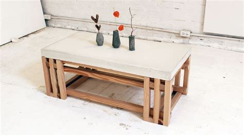 Concrete And Wood Coffee Table 101 Simple Free Diy Coffee Table Plans