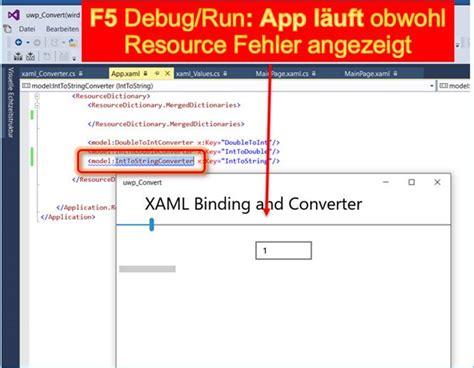 converter xaml ok vs uwp xaml der name ist im namespace nicht