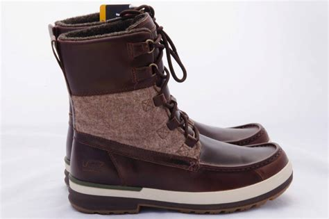 ugg snow boots mens ugg mens ory brown waterproof thinsulate snow boots size