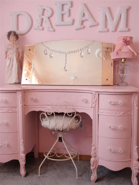 What Did The Mirror Say To The Dresser by Simply Shabby Chic Letters Pink Vanity Dresser 2