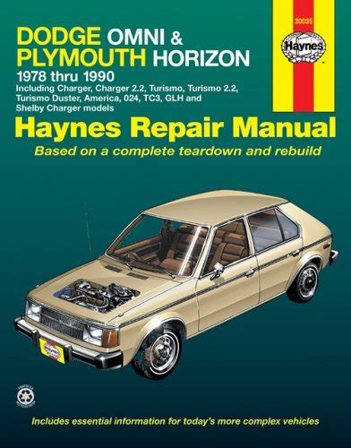dodge omni and plymouth horizon 1978 1990 haynes manuals