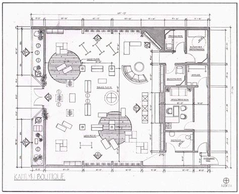 clothing boutique floor plans retail layout on behance