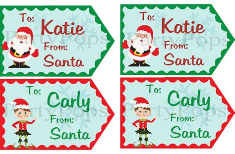 free printable gift tags signed by santa christmas gift tags from santa christmas gift tag by partypops