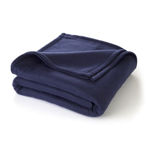 The Softest Blanket by Martex Soft Fleece Navy Blanket