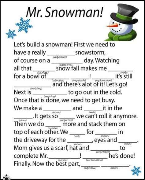 printable christmas mad libs christmas ed tech ideas