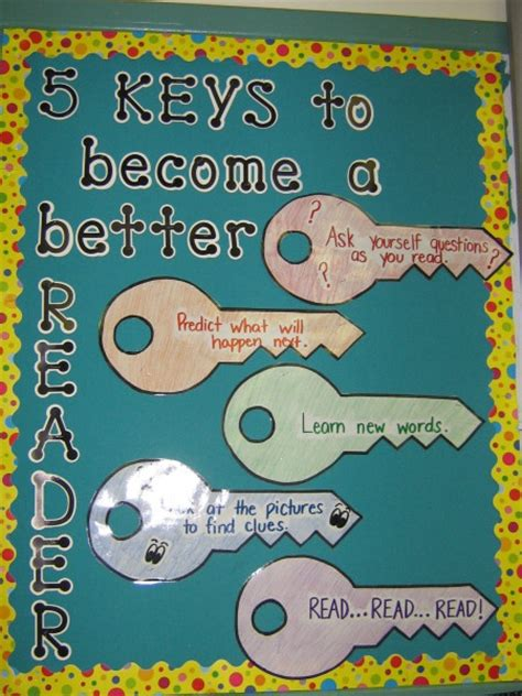 5 themes of reading five keys to becoming a better reader bulletin board