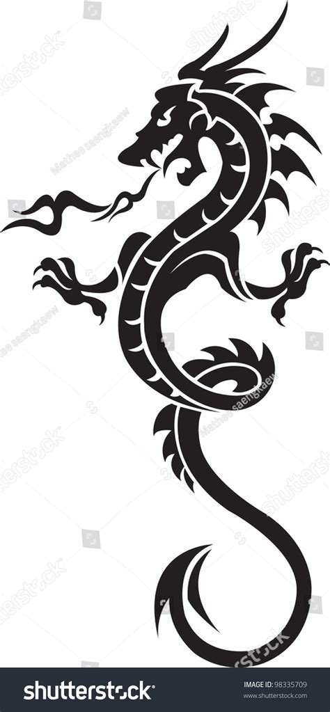 dragon tattoo vector illustration for stock vector illustration 98335709