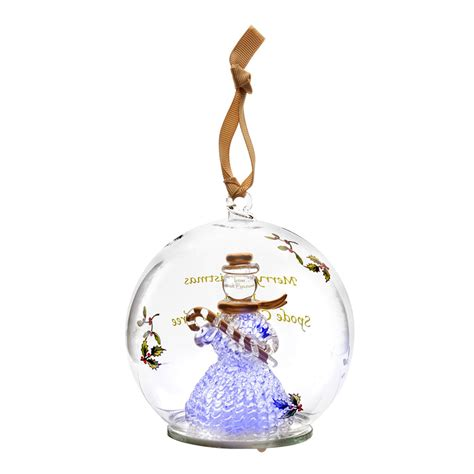 led ornaments spode snowman glass led ornament silversuperstore