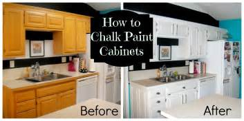 Diy painting oak kitchen cabi s with white chalk paint before and