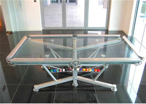 the g1 billiard table can offer unique transparent