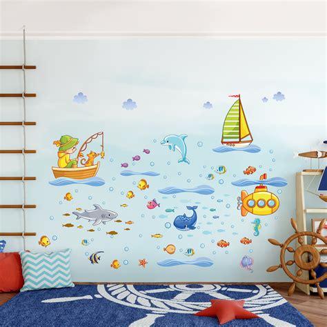 Wandtattoos Unterwasserwelt Kinderzimmer by Wandtattoo Kinderzimmer Unterwasserwelt U Boot Set