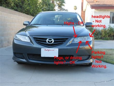mazda 3 parking light headlights and parking lights are not working mazda 6