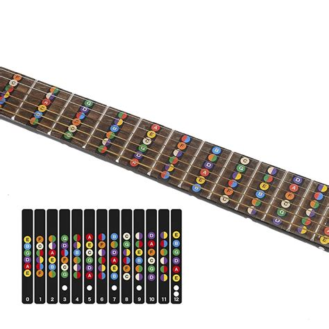 stiker penanda fret gitar fretboard guitar label black jakartanotebook
