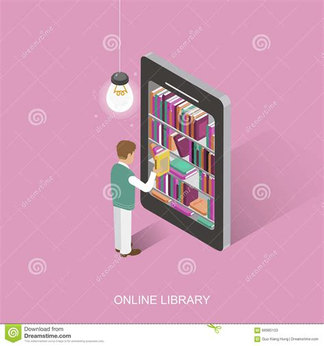design online library online library cartoon vector cartoondealer com 66985103