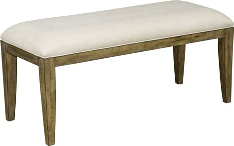 parsons bench the nook oak parsons bench from kincaid furniture