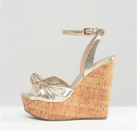 Wedges Selop Cv 05 Gold asos traffic jam gold cork wedges gt shoeperwoman