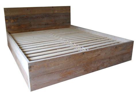 Bouwtekening Pallet Bed by Tweepersoons Bed Steigerhout Zelf Maken